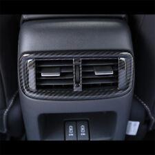 FOR HONDA CR-V CRV 2017-2018 Carbon fiber ABS A/C Rear Vents Outlet Trim Cover