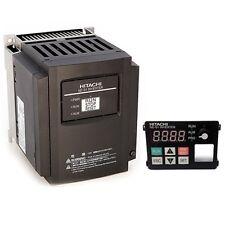 HITACHI NES1-007SB, 1 HP, 230 VAC, 1 PHASE INPUT, VFD, With OPERATOR