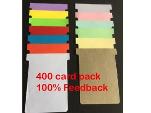 400 pack T-Cards T Card Job Cards Size 3 Qty 400  Free  post