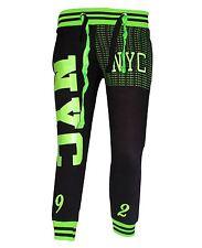 Ladies Capris Pants Women Three Quarter Neon Print NYC Chicago 3/4 Joggers