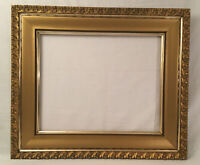 """Antique Gold Gild Gesso on Wood Frame 16x20"""" opening"""