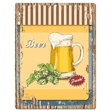 PP0539 Beer Plate Chic Sign Bar Store Shop Cafe Restaurant Kitchen Decor