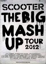 SCOOTER - 2012 - Tourplakat - The Big Mash Up - Tourposter