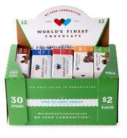 World's Finest Chocolate $2 Variety Box 30 Candy BAR Bars OKLAHOMA FREE SHIPPING