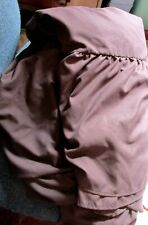 """Used Polyester Queen Size Bed Skirt Dust Ruffle Chocolate Brown- 60"""" X 80"""" X14"""""""