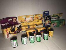 Lot of Expired film fujifilm kodak lomograghy 18 rolls and 1 disposable camera