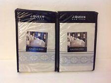 J. Queen New York SIENNA SILVER Reversible EURO SHAM SET! NIP~$98! ~ 2 PIECE SET