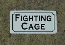 FIGHTING CAGE Metal Sign Hockey Club Boxing Bar MMA Karate Martial Arts