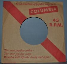 """2x 45 rpm COLUMBIA brown red company sleeve LOT original record sleeves 7"""""""