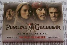 Disneyland Resort Pirates of the Caribbean At World's End Premiere 2007 Button