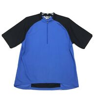 Sugio Cycling 1/2 Zip Jersey Mens Size XL Blue Black Short Sleeve Dry Fit