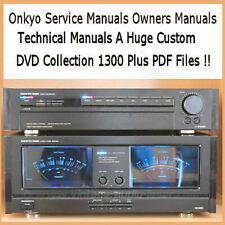 Onkyo 1300+ Service Manuals, Owners, Schematics, HiFi Audio Repair, PDF DVD !!