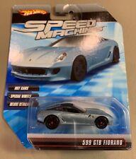 HOT WHEELS 2010 SPEED MACHINE FERRARI 599 GTB FIORANO LIGHT BLUE 1:64 ~NICE~
