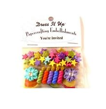 Dress it Up Papercrafting Embellishments - You're Invited