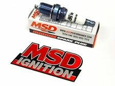 MSD IRIDIUM SPARK PLUGS FOR 71-84 OLDSMOBILE CUTLASS SUPREME V8 - FREE EMBLEM