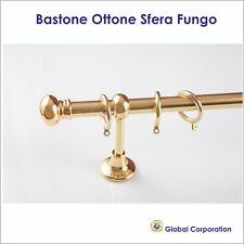 L Bastone doppio per tende /Ø 20 mm 140 cm completo in ottone lucido