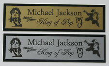 Michael Jackson King of Pop Nameplate for signed photo cd record