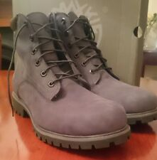 Timberland Gris Oscuro Cuero Impermeable Botas Talla Uk 12.5 RRP £ 160