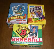 3 1989 UNOPENED BASEBALL BOXES KEN GRIFFEY ROOKIE YEAR - TOPPS - DONRUSS