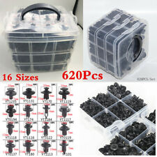 16 Sizes 620Pcs Plastic Fasteners Clips For Car Door Bumper Fender Side Skirt
