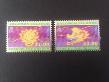 Solomon Islands 2000 Chinese New Year of Dragon Set SG 966-967 MNH