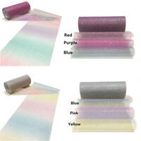 5Yards Rainbow Glitter Fabric Sparkle Yarn Organza Sheer Fabric DIY Dress Cloth