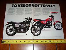 1983 HONDA ASCOT VT500 / FT500 - ORIGINAL 2 PAGE AD