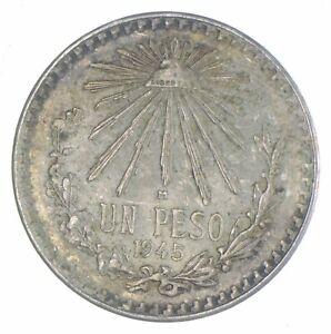 SILVER - WORLD Coin - 1945 Mexico 1 Peso - World Silver Coin *679