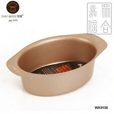 "CHEFMADE 5"" Oval-Shape Cheese Cake Baking Tray Non-Stick Bakeware- WK9138"