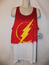 mens dc comics the flash dip dye tank top 2XL nwt