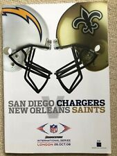 Nfl Intl Series Programme & Ticket San Diego Chargers vs New Orleans Saints 2008