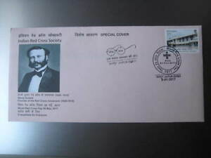 2017 India Special Cover on Henry Dunant released by Indian Red Cross Society