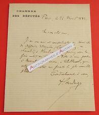 L.A.S 1883 Paul SANDRIQUE Secrétaire de GAMBETTA Député Aisne Brunehamel VACHEZ