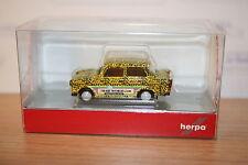 Herpa 027625, Trabant 601 S, Leopard, Trabi-World, Modell 2 , neu, OVP