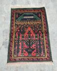 100x69 CM  NICE Vintage Baloch Prayer Rug  Best Prayer Wool Rug Ethnic rug mini