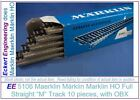 EE 5106 EXC Marklin HO 5106 M Full Straight Track Box of 10 Tracks with OBX