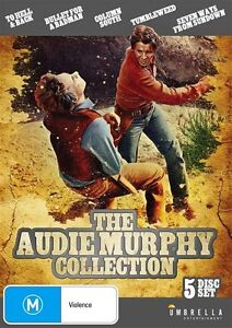 The Audie Murphy Collection : 5 Disc  : NEW DVD * FREE EXPRESS POST *