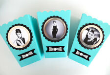 Audrey Hepburn/ breakfast at Tiffanys theme/ party favors SET OF 10
