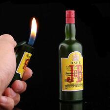 Funny Mini Wine Bottle Lighter Refillable Butane Gas Fire Cigarette Smoke Gift