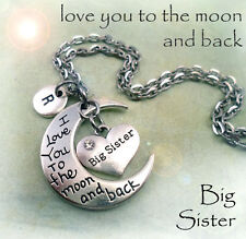 Big Sister I Love You to the Moon and Back Necklace - Big Sister Gift
