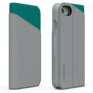 PureGear Express Folio w/ CC Slots for Apple iPhone 8+/7+/6S+/6+  – Gray/Teal