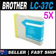 5x Cyan  Ink for Brother LC37 LC57 MFC440CN MFC465CN MFC5460CN MFC5860CN