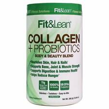 MHP Fit & Lean Grass Fed Collagen Peptides + Probiotics, 12.64oz, Unflavored