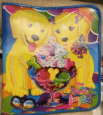 Vintage Lisa Frank 3 ring zipper binder puppy sundae.