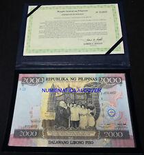 FILIPINAS PHILIPPINES 2000 Piso 1998 Commemorative in Folder Pick 189a  SC / UNC