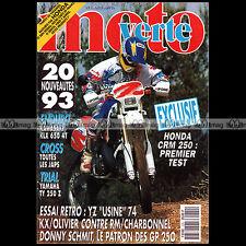 MOTO VERTE N°220-b YAMAHA YZ 360 FANTIC 125 K-ROO HONDA CR M 250 DONNY SCHMIT 92