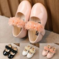 Toddler Baby Kids Girls Soft Soled Flower Sandals Party Wedding Princess Shoes