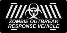 License Plate ZOMBIE OUTBREAK RESPONSE VEHICLE Auto Truck car tag Aluminum