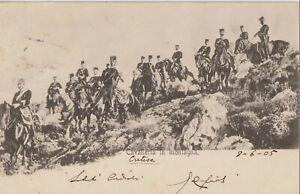1905 GREECE CRETE KRITI CHANIA CAVALLERY IN THE MOUNTAINS GENDARMERIE