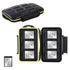 Water-resistant Storage Memory Card Case Holder fits 6 XQD Card for Nikon Z7 Z6